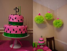The Ryan Family: Paisley's Watermelon Birthday Party  This is the theme I've wanted for MY Paisley's 1st bday party & I thought it was so neat to find it done for anther Paisley!