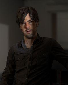 3D Portrait of David Spriggs, Ian Spriggs on ArtStation at https://www.artstation.com/artwork/3d-portrait-of-david-spriggs
