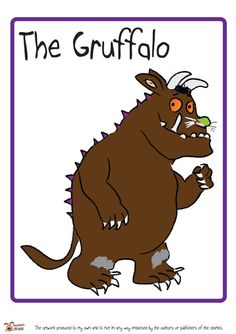 The Gruffalo Display Poster Gruffalo Eyfs, Gruffalo Activities, Gruffalo Party, Book Activities, The Gruffalo Book, Gruffalo Characters, Julia Donaldson Books, Reading Display, Puppets For Kids