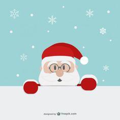 Babbo Natale cartone animato volto Vettore gratuito
