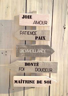 panneau de direction personnalisable en bois de palette : Décorations murales par littlepalette