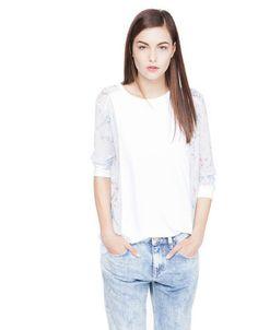 Bershka Croatia - Bershka combined fabric sweatshirt