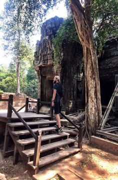 The Angkor Temples can be found throughout Cambodia, however the main hub are located just outside of Siem Reap. How to get to Angkor Wat Angkor Wat Cambodia, Siem Reap, Garden Bridge, Temples, Outdoor Structures, House Styles, Pictures, Photos, Photo Illustration