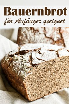 - Delicious farm bread made from rye flour and spelled flour, suitable for beginners, not difficult t - Quiche Lorraine, Naan, German Bread, Buzzfeed Tasty, Vegan Banana Bread, Healthy Breakfast Smoothies, Easy Baking Recipes, Pampered Chef, How To Make Bread