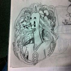 "@alessruiz's photo: ""#sketch #art #artwork #illustration #draw #drawing #design #monterrey #picadillo #alessruiz #pencil #monday #dibujo #Diario #comic #creative #process #boceto"""