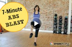 Blast your abs in less than with this CRUNCH-FREE standing workout! | via @SparkPeople #fitness #exercise #core #video