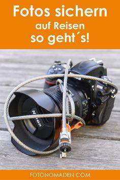 Wie du deine Fotos auf Reisen sicherst und deine Foto-Ausrüstung schützt. Von der Versicherung für dein Foto-Equipment bis zu Tipps für externe Festplatten und Rucksackt und Kameragurt mit Diebstahlsicherung. #Foto #Reise #sichern Photography Tips, Travel Photography, Photo Story, Work Travel, Pictures, Tricks, Namibia, Travel Hacks, Location