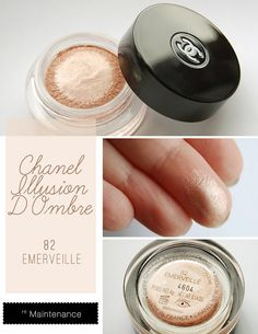 Chanel Illusion D'Ombre 82 Émerveillé; my mom uses this stuff and it is awesome. Now if only she would buy me some...