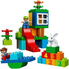 Give your child hours of entertainment with the LEGO® DUPLO® Deluxe Box of Fun. This set makes the perfect introduction to LEGO building fun, with a huge range of classic and special DUPLO bricks.