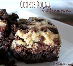~Cookie Dough Brownies!