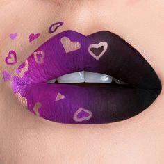 39 Trending Purple Lipstick Shades for 2019 - Lipstick art - Lipstick Crazy Makeup, Cute Makeup, Makeup Art, Lip Makeup, Makeup Ideas, Fairy Makeup, Makeup Eyeshadow, Lipstick Art, Lipstick Shades