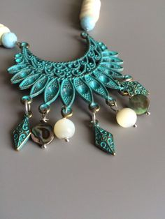 Hey, I found this really awesome Etsy listing at https://www.etsy.com/listing/386966500/white-turquoise-boho-necklace-bohemian