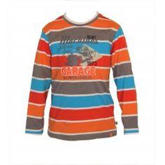 Tee shirt mancheslongues multicolor,col arrondi 100% coton