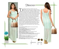 """""""Lace maxi dress with fierce finds"""" by ellyandeddy-mendo ❤ liked on Polyvore featuring Safavieh, Balmain, Allstate Floral and fiercefinds"""