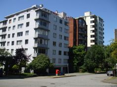 Many rental buildings South of Davie Street West End Vancouver BC