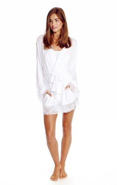 Wildfox Couture Here Comes the Bride Lace Dressing Robe