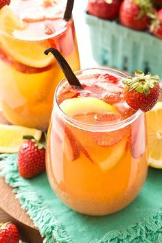 Chill out this summer with this easy Strawberry Vanilla Sangria recipe made with white wine, fresh strawberries, and vanilla bean.