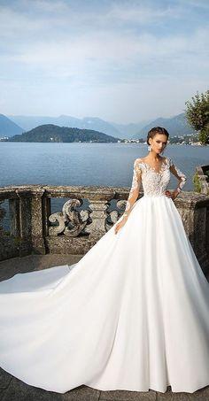 Milla Nova Bridal 2017 Wedding Dresses djanet / http://www.deerpearlflowers.com/milla-nova-2017-wedding-dresses/11/ #weddingdresses