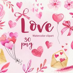 Heart Clipart: Digital Heart Clipart Valentine | Etsy Christmas Lights Clipart, Bow Clipart, Valentines Day Clipart, Christmas Frames, Blog Planner, Wedding Stationary, Wedding Invitation, Digital Pattern, Pattern Paper