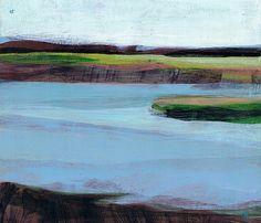 Katherine Sandoz - (pine island) k - 6″ x 7″ - water-based media on panel
