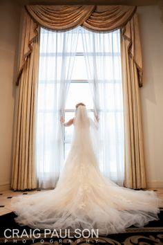Chelsea & Brian 2012 - Craig Paulson Photography - NYC Wedding Photographer #dress #bride #window #back