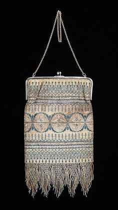 French evening purse . c1925
