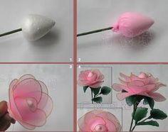 Resultado de imagen para white nylon flower rose