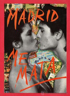 postal - madrid me mata / too much for my brain - nº 10 - fot. oscar marine - nueva - año 1986 (