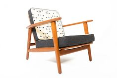 DOT PATTERN LOUNGE CHAIR • Mid Century Mobler