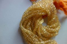 13 inch citrine faceted rondelle  beads single strand 4mm-5mm