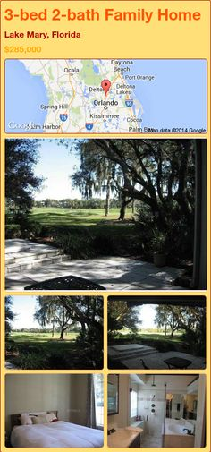 3-bed 2-bath Family Home in Lake Mary, Florida ►$285,000 #PropertyForSale #RealEstate #Florida http://florida-magic.com/properties/88364-family-home-for-sale-in-lake-mary-florida-with-3-bedroom-2-bathroom