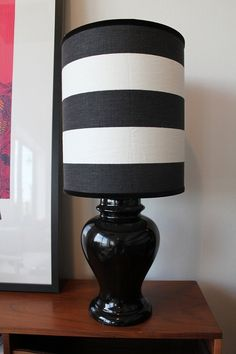 Black & White Ginger Jar Lamp (by sprucehome on Etsy)