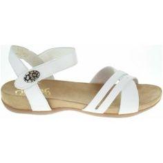 Rieker dámské sandály 60553-80 bílé