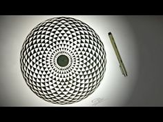 How To Draw ✎ Geometric EYE - Hypnotic Toroid Mandala - YouTube