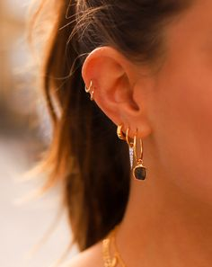 Missoma leads the way in demi-fine jewellery, offering contemporary statement, delicate and personalised jewellery for the everyday woman. Jewelry Tattoo, Ear Jewelry, Cute Jewelry, Jewelry Accessories, Missoma Jewellery, Helix Jewelry, Silver Jewellery, Women Jewelry, Pretty Ear Piercings