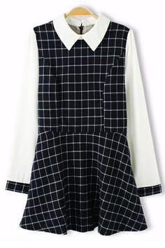 Preppy Style Plaid A-line Dress OASAP.com