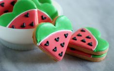 Bridget Edwards is the author of Decorating Cookies: 60+ Designs for Holidays, Celebrations & Everyday. Once you've mastered the cute and clever designs in the book, get more of Bridget's crafty baking at her blog, Bake at 350.I love watermelon-flavored food. Best Jolly Rancher in the bag? Hands down, watermelon.Real watermelon, however, is not my [...]