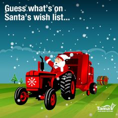 Santa's reindeer are taking a rest, time to get out the tractor for the heavy duty jobs.
