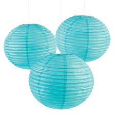 Big and bold, these Light Blue Paper Lanterns will be the accent at your wedding.