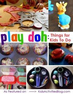 LOTS of playdough activities for kids.