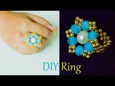 DIY easy and quick own ring, How to make finger ring, jewelry. Learn how to make quick and easy finger ring with our step by step ring making tutorials. You can make your own beautiful ring at home with beads. its very easy to make a ring, Beads art Wire Wrapped Jewelry, Wire Jewelry, Jewelry Crafts, Beaded Jewelry, Jewelry Rings, Jewelery, Beaded Bracelets, Wire Earrings, Diy Beaded Rings