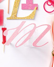 Sparkle Script Letters | Step-by-Step | DIY Craft How To's and Instructions| Martha Stewart