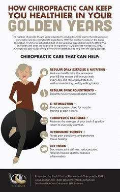 Make the most of your Golden Years with chiropractic care. Youngest patient=hours old Oldest patient=95 years young #backinmotion.us