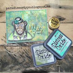 Happy St Paddy's Day! What better way to celebrate the day then with an wee Irish hipster monkey. I stamped my image on watercol...