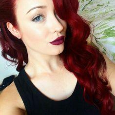 L❤️VE THIS COLOR! Beach Waves, New Hair, Red, Sew In Weave, Loose Curls, Waves, Wavy Hair, Ocean Waves
