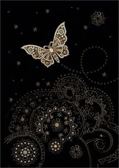 Diamond Butterfly - Bug Art Jewels by Jane Crowther