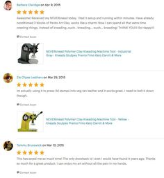 Etsy reviews of The NEVERknead Polymer Clay Kneading Machine Polymer Clay Tools, Machine Tools, Spice Things Up, Conditioner, Etsy, Stars, Star