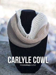 Carlyle Cowl Crochet Pattern | Free cowl crochet pattern by Little Monkeys…