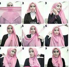Kreasi Jilbab Untuk Akhir Pekan