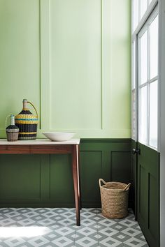 Manchester based Little Greene Paint company are soon to launch a collection of greens in association with The National trust. The 31 colours, 20 of which have been derived from important national Trust properties such as… Decor, Green Interiors, Hallway Decorating, Interior, Feng Shui Colours, Little Greene Paint, Green Paint Colors, Home Decor, Best Interior Design Apps
